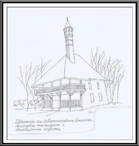 Male džamije sa drvenom munarom