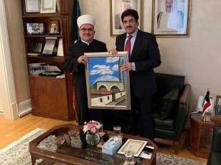 Muftija Dudić sa ambasadorima SAD, Katara, Emirata, Kuvajta i Egipta